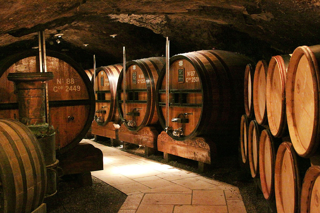 Côtes-du-Rhône wine cellar